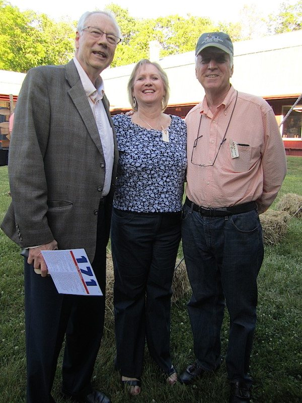 Alan Carmichael with Becky and Morton Massey (Blue Streak photo)