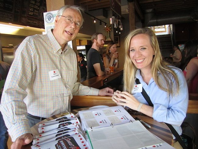 Alan Carmichael and Natalie Lester at the opening of Sweet P's Downtown Dive. (Photo courtesy of The Blue Streak)