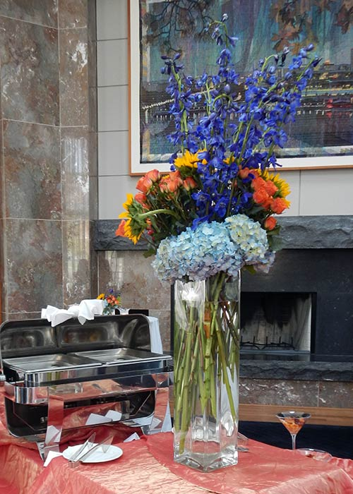 The centerpieces, done by Samuel Franklin, were beautiful.