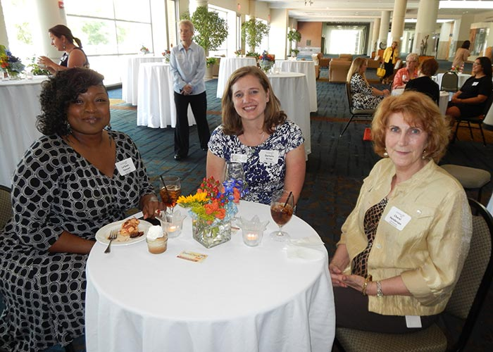 From left, Le'Sean Stewart of the Knoxville Area Urban League; Danielle Velez of Knoxville Botanical Garden and Aboretum; and Cherel Henderson of the East Tennessee Historical Society.