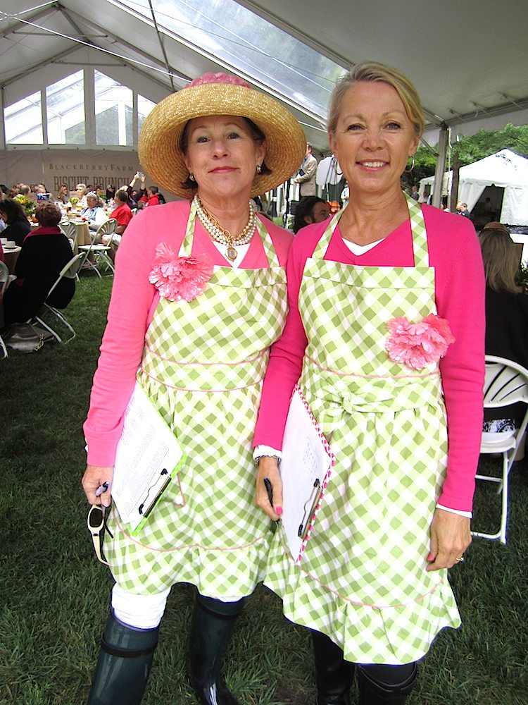 Judith Foltz, left, and Vicki Williams Baumgartner, co-chairs of the Blackberry Farm Biscuit Brunch, part of the International Biscuit Festival.