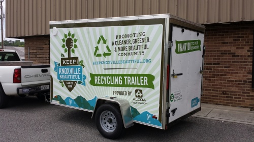 Keep Knoxville Beautiful's Recycling Trailer is available free of charge for event planners.