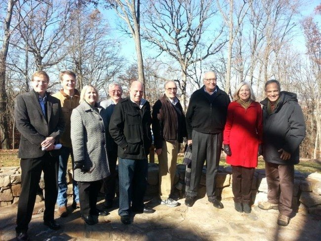 The Board of the Aslan Foundation and local elected officials dedicated High Ground Park. From left, Aslan Foundation Board President Bob Young, Knox County Mayor Tim Burchett, State Sen. Becky Duncan Massey, Knox County Commissioner Mike Brown, Knoxville Vice Mayor Nick Pavlis, Knox County Commissioner Ed Shouse, Aslan Foundation Board Members Jim and Lindsay McDonough and Aslan Foundation Executive Director Jeff Mansour.