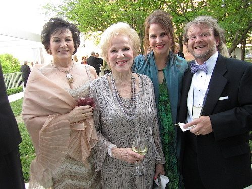 From left, Dr. Michelle Brewer, Janet Testerman Crossley, Janet Testerman Creswell and Joey Creswell in the South Garden at the Knoxville Museum of Art's Glass Ball.