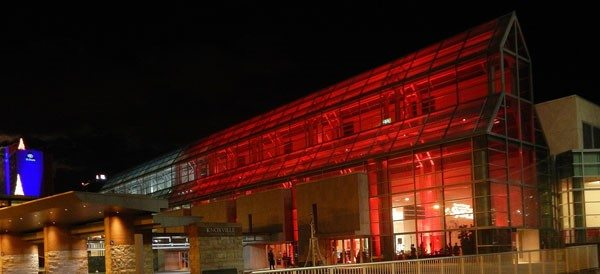 M&M Productions USA turned the Knoxville Convention Center red for a holiday party.