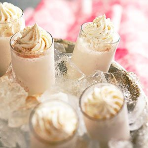 Brandy-Kissed Snowflakes are creamy and delicious.