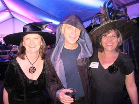 The Downtown Coven, from left, Gay and Bill Lyons and Kim Trent at a past HearthScares Ball at James White's Fort.