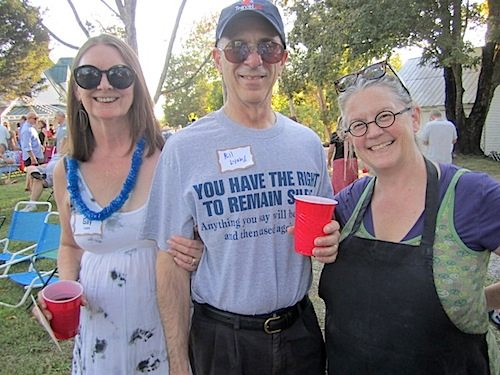 Bill Lyons with hosts Gay Lyons, left, and Holly Hambright, at Holly Hock Stock.